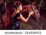 beautiful young fashion model... | Shutterstock . vector #314336921