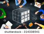 Small photo of Cube Cubic Puzzle Solution Solving Problem Concept
