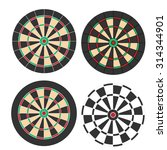 Dart Board Vector Set...