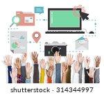technology media social network ... | Shutterstock . vector #314344997