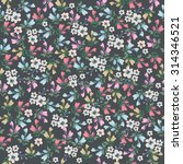seamless vintage flower pattern  | Shutterstock .eps vector #314346521