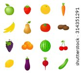 vector fruits   vegetables... | Shutterstock .eps vector #314351291