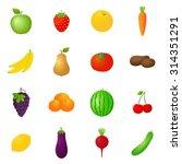 vector fruits   vegetables... | Shutterstock .eps vector #314351291