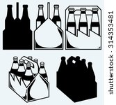 beer six pack in three boxes.... | Shutterstock .eps vector #314353481