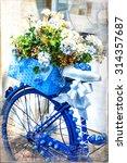 Romantic Vintage Cards   Bike...