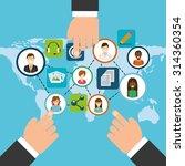 social media design  vector...   Shutterstock .eps vector #314360354