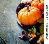 autumn concept with seasonal... | Shutterstock . vector #314362505