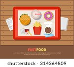 fast food  illustration in a... | Shutterstock .eps vector #314364809