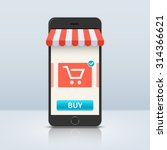 online shopping. smartphone and ...   Shutterstock .eps vector #314366621