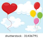 isolated set of balloons on... | Shutterstock . vector #31436791