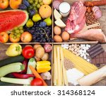 assorted food full of vitamins  ... | Shutterstock . vector #314368124