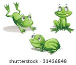 Illustration Of Three Frogs On...