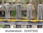 Wooden Garden Fence Detail...