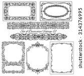 set of decorative vintage... | Shutterstock .eps vector #314376995