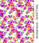 Seamelss Ditsy Floral Pattern.