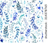 pattern of flowers painted in... | Shutterstock . vector #314378765