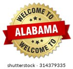 alabama 3d gold badge with red...   Shutterstock .eps vector #314379335