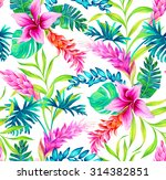 amazing seamless tropical... | Shutterstock . vector #314382851