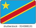a flat design flag illustration ... | Shutterstock .eps vector #314388131
