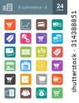 e commerce iconset. can also be ... | Shutterstock .eps vector #314388851