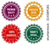 set of colorful round badges.... | Shutterstock . vector #314389181