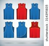 basketball jerseys temlplates...   Shutterstock .eps vector #314395835