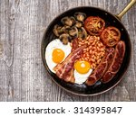 close up of rustic full english ... | Shutterstock . vector #314395847