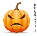 halloween pumpkin vector... | Shutterstock .eps vector #314398757