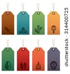 set of mexican themed gift tag... | Shutterstock .eps vector #314400725