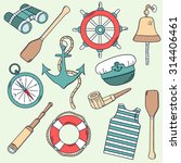 seaman hand draw icon set.... | Shutterstock .eps vector #314406461
