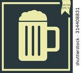 vector glass of beer icon | Shutterstock .eps vector #314408831