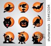 set symbols of halloween | Shutterstock . vector #314412104