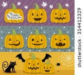 big set of pumpkins for... | Shutterstock .eps vector #314412329