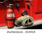 fire gear on the side of a fire ... | Shutterstock . vector #314414