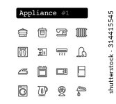 set line thin icons. vector....