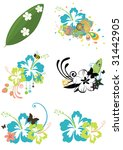 six design elements with... | Shutterstock .eps vector #31442905