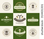 retro style labels  badges and... | Shutterstock .eps vector #314431331