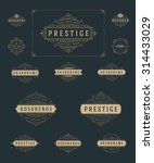 set luxury logos template... | Shutterstock .eps vector #314433029