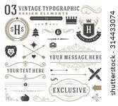 retro vintage typographic... | Shutterstock .eps vector #314433074