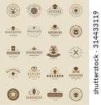 bakery shop logos  badges and... | Shutterstock .eps vector #314433119