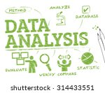 data analysis. chart with... | Shutterstock .eps vector #314433551