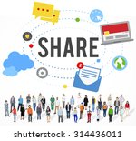share sharing connection social ... | Shutterstock . vector #314436011
