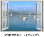 Open Window View To Harbor With ...