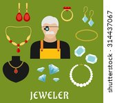 jeweler profession concept with ... | Shutterstock .eps vector #314437067
