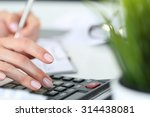 woman hands working on... | Shutterstock . vector #314438081