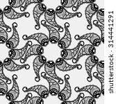 seamless black pattern....   Shutterstock . vector #314441291
