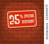 sign with text special discount ... | Shutterstock .eps vector #314443475