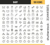 baby icons. vector illustration. | Shutterstock .eps vector #314445851