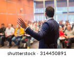speaker at business conference... | Shutterstock . vector #314450891