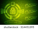 security concept  lock on... | Shutterstock . vector #314451395